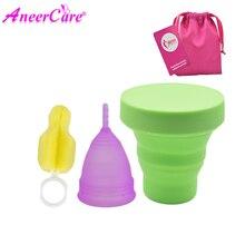 Feminine Vaginal Menstrual Cup and Sterilizer Cup copa menstrual de silicona medica reusable women coletor menstrual