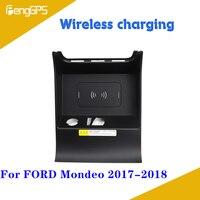 Cargador inalámbrico QI para coche dedicado a FORD Mondeo 2017 2018 cargador rápido para teléfono móvil cargador de coche inteligente -
