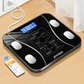 USB Aufladbare Drahtlose Digitale Waage Tracks 9 Schlüssel Körper Fitness Kompositionen Gesundheit Analyzer mit Smartphone App