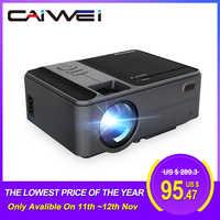 CAIWEI Smart WiFi Bluetooth Android Portable Small Mini Projector Support HD Video Home Theater Cinema Heimkino HDMI VGA Beamer