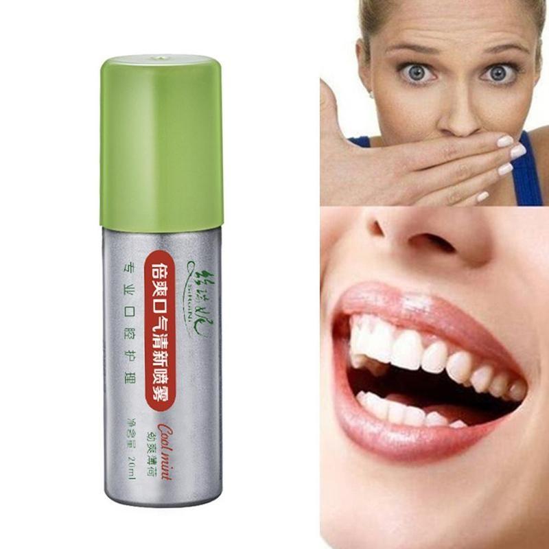20ml Peppermint Breath Freshener Oral Spray Deodorizing Care Spray Mint Bad Odor Halitosis Treatment Clean Mouth Drop Shipping 1