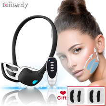 cellulite massager for face lift tool tape double chin EMS microcurrent device v shape face slimmer lifting slimming machine