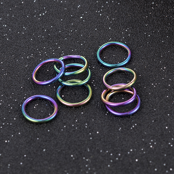 allergy Triple Gem Septum Clickers Hinged Rings Punk Tragus jewer Classic Anti