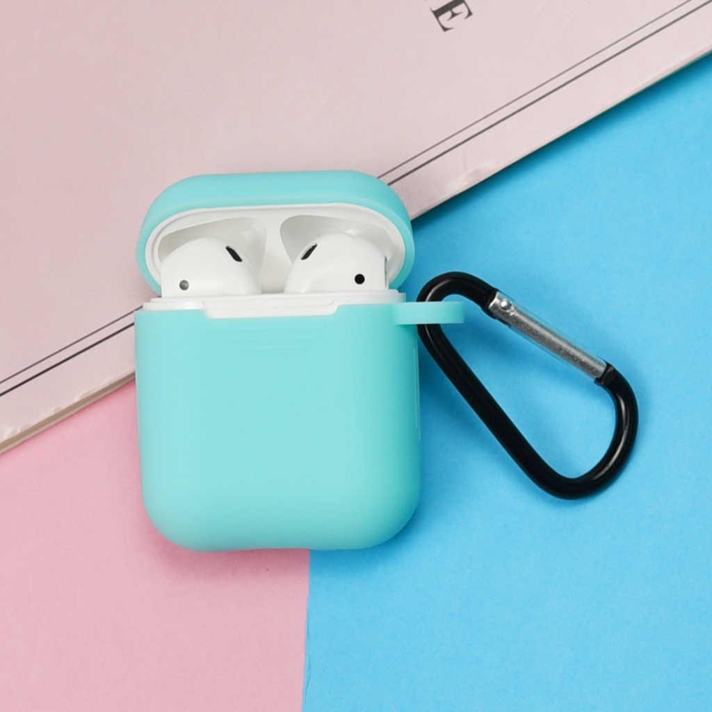 مصغرة لينة غطاء من السيليكون ل أبل Airpods للصدمات غطاء ل أبل AirPods الهواء القرون سماعة حالات رقيقة جدا حامي حالة
