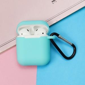 Image 5 - Pełna obudowa ochronna do Airpods przenośna silikonowa skóra z etui na kluczyk do apple Airpods ładowanie słuchawek