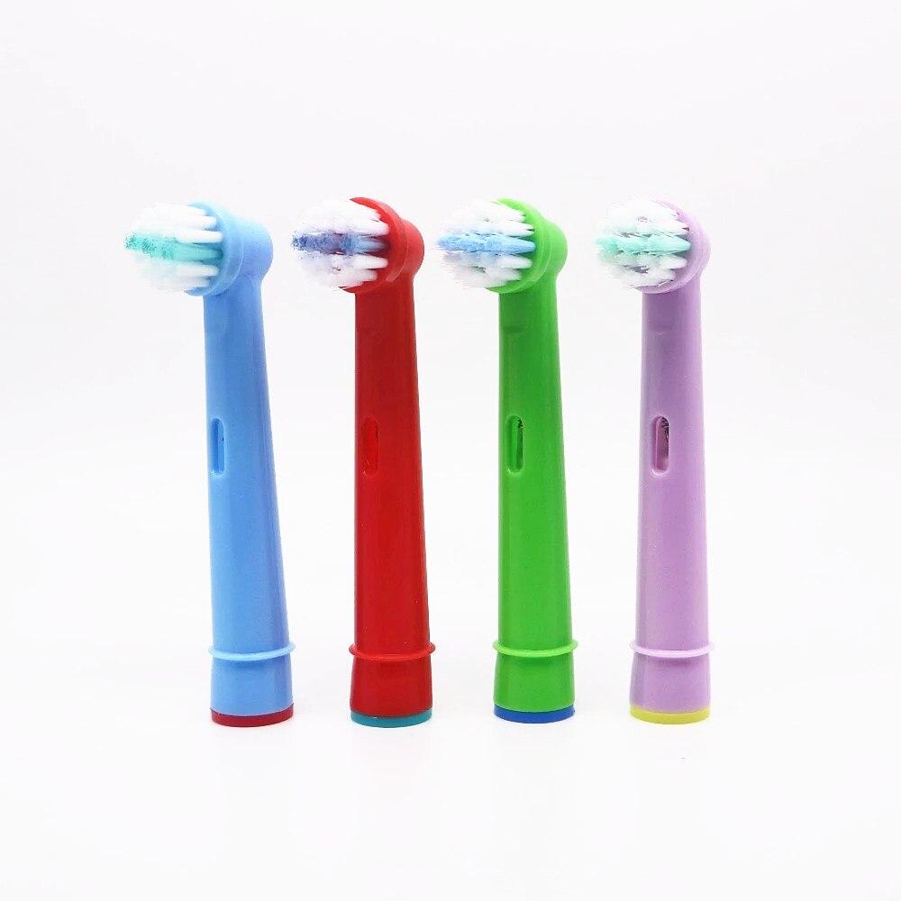 4 шт. Замена детская зубная насадки для зубной щетки Oral-B Электрическая зубная щетка подходит заранее Мощность/3D Excel/Triumph/Pro Здоровье