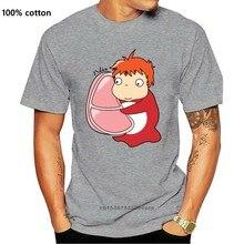 Presunto! Ponyo no penhasco engraçado camiseta unisex 2020 t crewneck tamanho grande t camisa