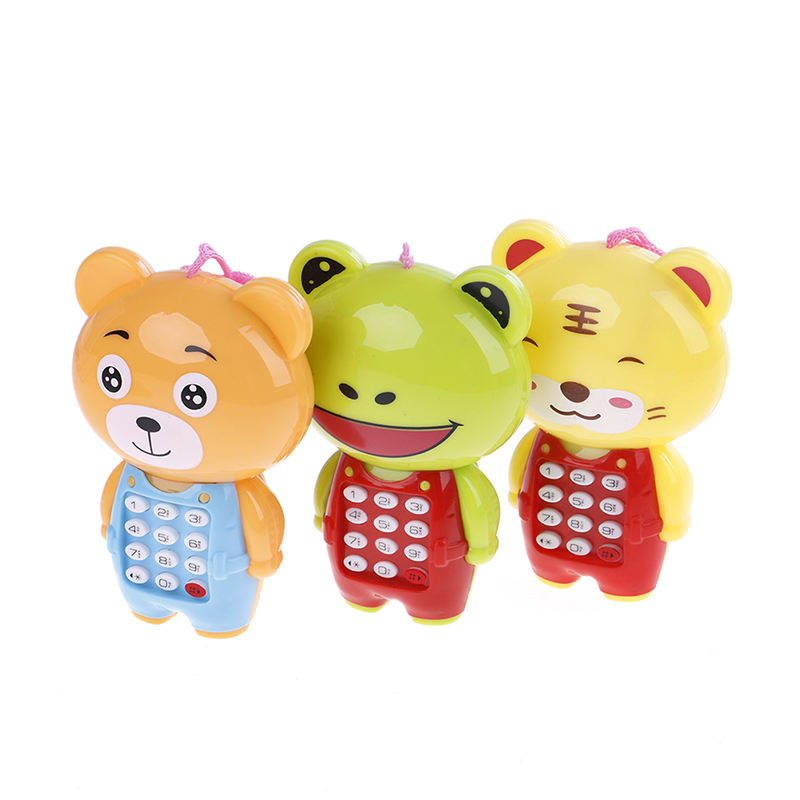 1Pc Phone Children Animals Sounding Vocal Musical Mobile Phone Electronic Toy For Baby Kids Educational Learning Baby Toys