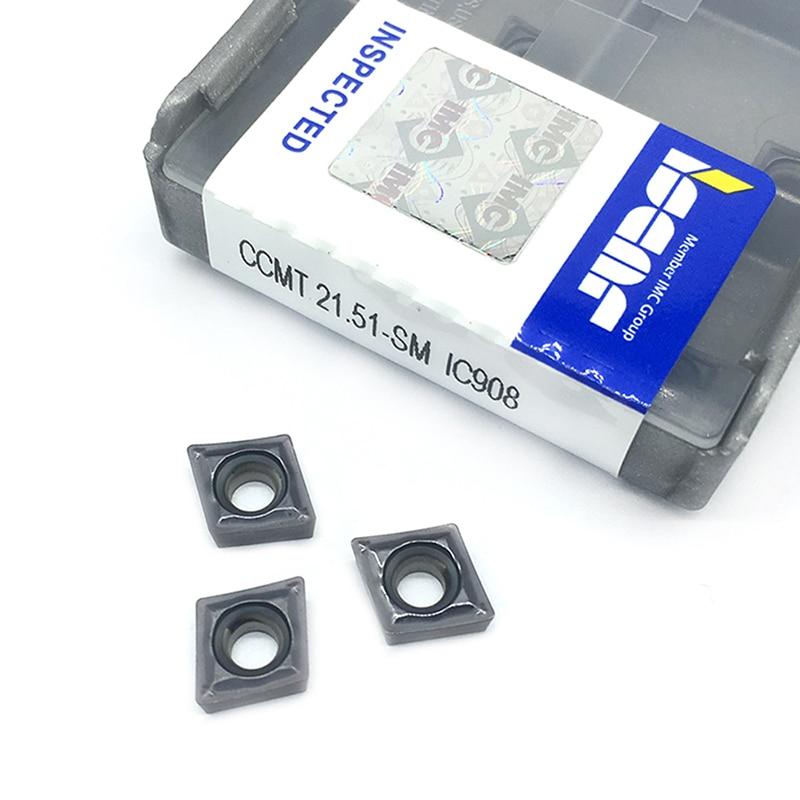20PCS CCMT060204 SM IC908 Internal Turning Tools CCMT 060204 Carbide Insert Lathe Cutter Tool Tokarnyy Turning Insert