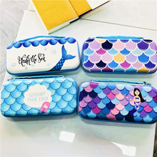 Mermaid Carrying Hand Bag Game Cards Storage Box Hard Shell Holder for Nintendo Switch Console NS Joy Con Protective Case Cover