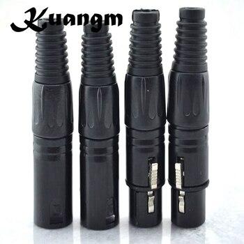 8 unids/lote 4 piezas NC3MX y 4 piezas NC3FX NEUTRIK macho y hembra un conjunto conector XLR de 3 pines de alta calidad
