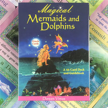 Magical Mermaids And Dolphin Oracle Cards English Version Tarot Card Playing Cards Divination Fate Board Games for Entertainment