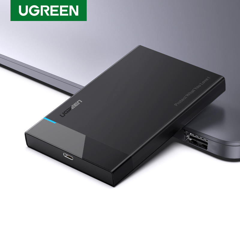 UGREEN HDD Case 2.5 <font><b>USB</b></font> C 2-IN-1 SATA to <font><b>USB</b></font> <font><b>3.1</b></font> Gen 2 6Gbps External Hard Disk <font><b>SSD</b></font> Case For Seagate Toshiba Fujitsu 2.5 HDD <font><b>Box</b></font> image