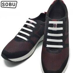 12 uds/lote nuevos Cordones elásticos de silicona sin ataduras cordones de silicona para todas las zapatillas cordones creativos para zapatos mujer/hombre G001
