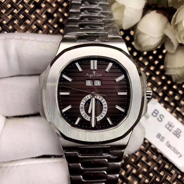 Luxury Brand New Automatic Mechanical Men Watch Sapphire Transparent Glass MoonPhase Watches Rose Gold Black Blue Rubber Coffee | Fotoflaco.net