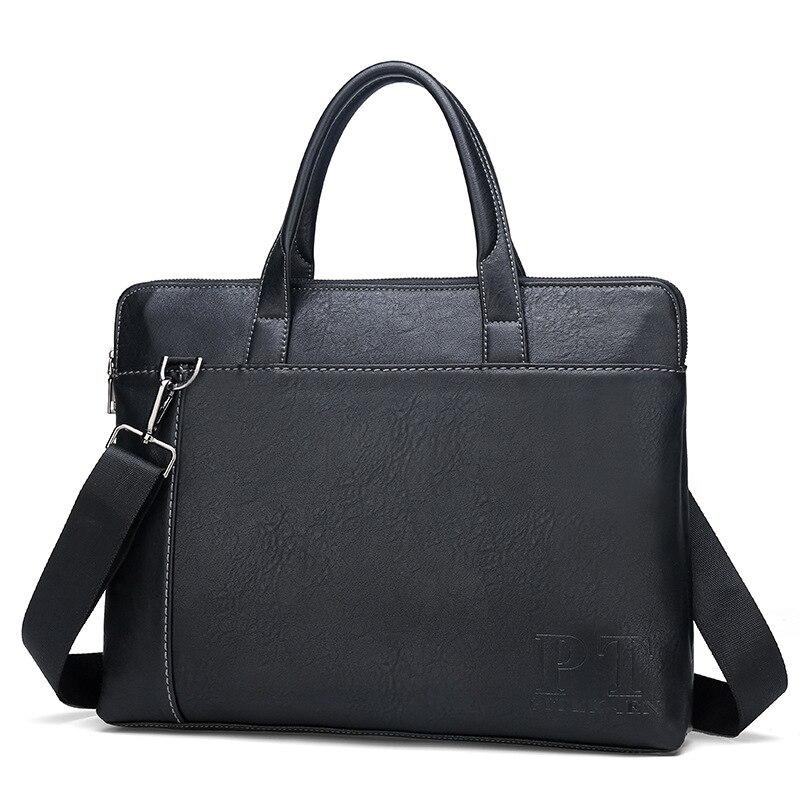 2019 New Style Men's Bag Business Versatile Simple One-Shoulder Handbag Men PU Leather Briefcase Fashion Wholesale