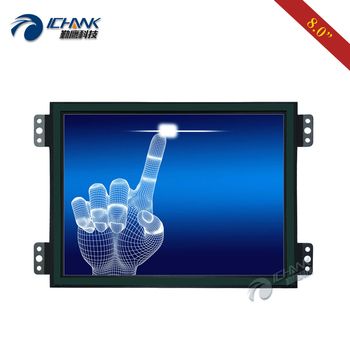 """ZK080TC-LRR2/8""""inch 1024x768 VGA HDMI Metal Open Frame Embedded Industrial Medical Equipment PC Touch LCD Screen Monitor Display"""