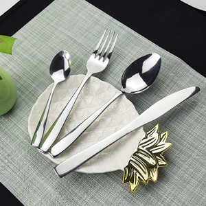Image 3 - Stainless Steel 24pcs Tableware Western Cutlery Set knife spoon fork Dinner Set for 6 Person Family Supplies with Wood Gift Box
