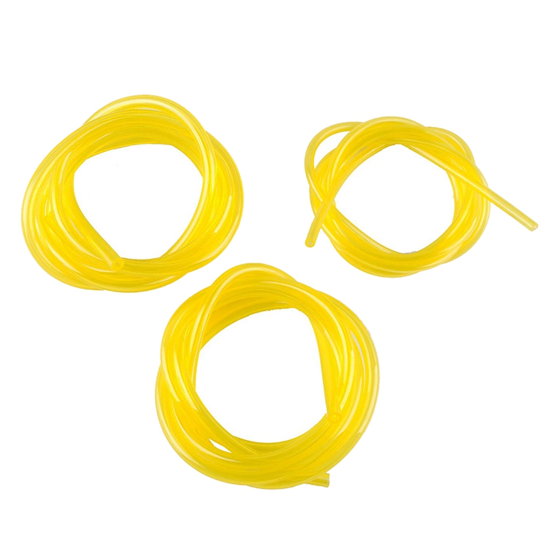 Tygon Fuel Line For Poulan Weedeater Chainsaw Trimmer Lawn Mower Parts Hose Tube Of 3 Sizes I.D. 080 Inch 3/32 Inch 1/8 Inch Yel