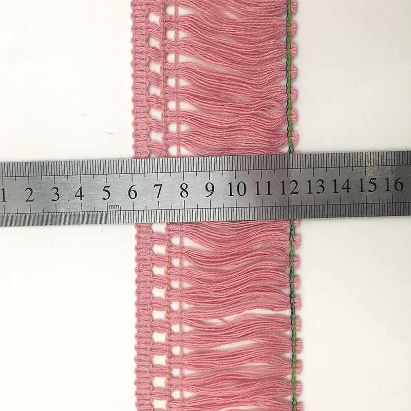 1m encaje franja negro algodón recorte de cordones con borlas mantel sofá cortinas Ropa Accesorios para el cabello encaje lana cabello DIY 6cm