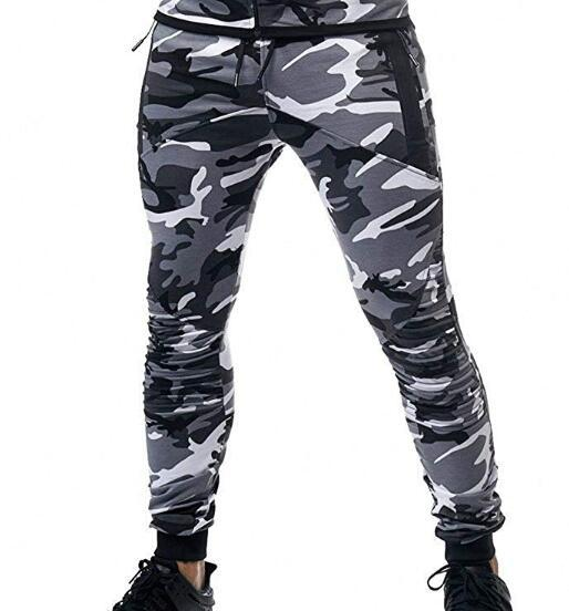 2019 Autumn And Winter New Style Casual Camouflage Printed Fitness Pants MEN'S Sports Trousers Casual Pants K925