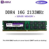 RAM VIRIVI DDR4 4GB 16GB 32GB 서버 메모리 2133MHz 2400Mhz REG ECC LGA 2011-3 핀 CPU X99 마더 보드 Dimm