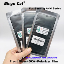 5pc Original Front Outer Glass Lens Cover With OCA Polarizer Film For Samsung A51 A10 A10S A20 A30 A40 A50 A70 A30S M10S A50SM21