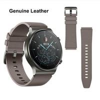 Echtes Leder Uhrenarmbänder 22mm für Amazfit GTR 47mm 2 2e Huawei Uhr GT GS Pro Ehre Magie Getriebe s3 Huami Armband armband
