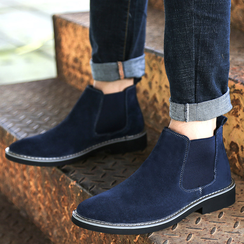 Men Loafers Oxfords Casual Suede Leather Soft Shoes High Quality  Male Formal Shoes Spring Lace-Up Style Shoes Business Dress