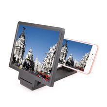 Nowy wzmacniacz ekranu 3D telefon komórkowy lupa HD stojak na składany ekran wideo powiększony uchwyt ochrona oczu 50PB tanie tanio OOTDTY Stojący Styl Screen Magnifier Brak black white