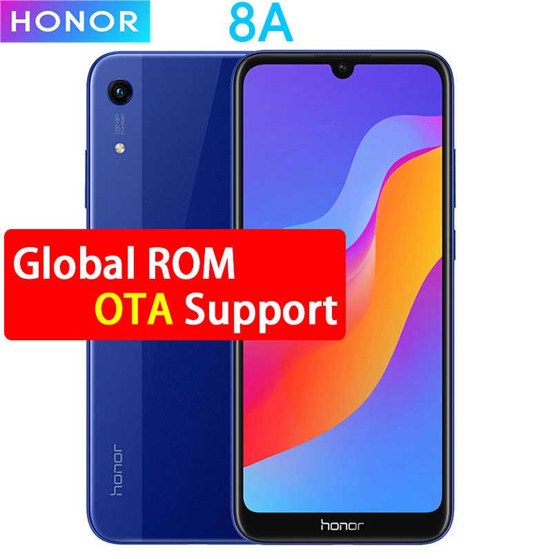 Honra 8A Smartphone Android 9.0 Octa core-6.09 polegada de Tela Cheia 1560x720 Dual Camera 3020 mAh 3 slots para cartões de Telefone Celular
