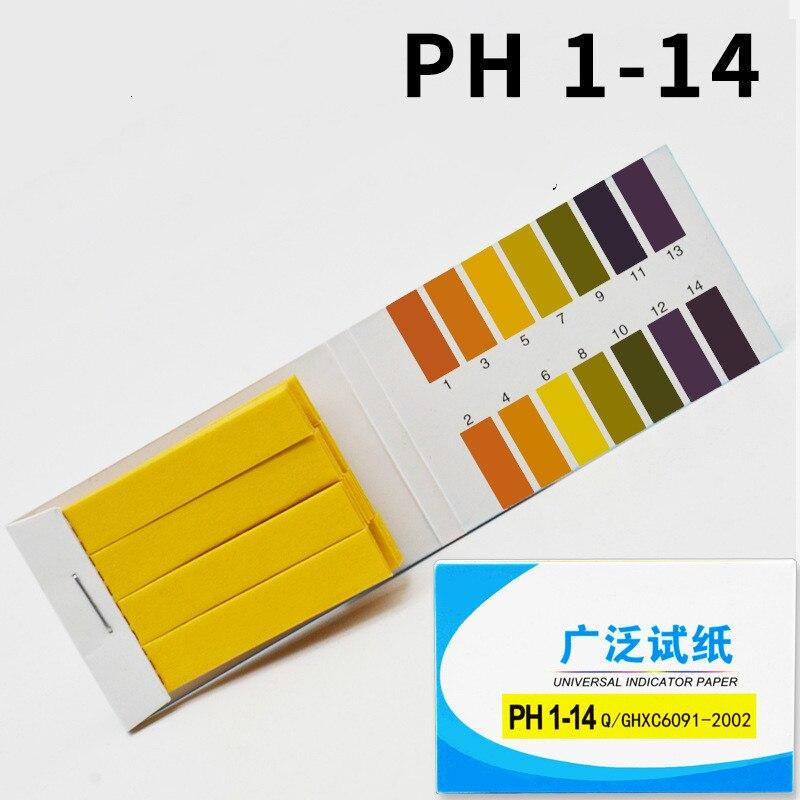 80 Strips PH 1-14 Test Strips Indicator PH Wide Range Test Paper Human Urine Measured Acid PH Test Paper