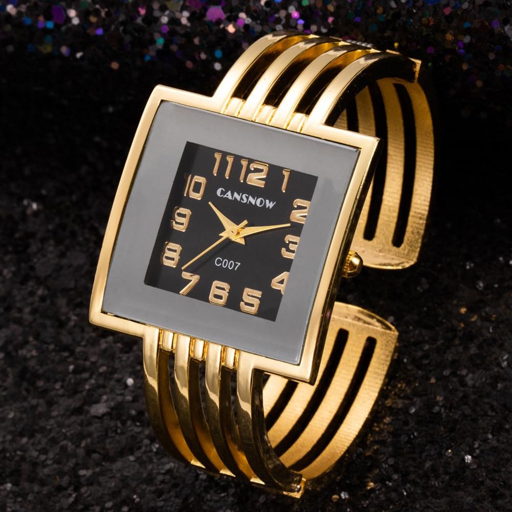 Women Bracelet Watch Gold Bracelet Watches Square Ladies Clock Hodinky Quartz Luxury Bangle Watches For Women Satti Reloj Mujer
