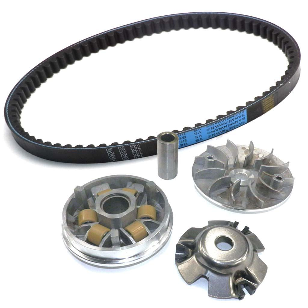 Motorcycle FAN Clutch Variator Weight Rollers Variator Fan Drive Belt 743 20 30 for GY6 125cc 150cc Scooter Moped ATV GO KART