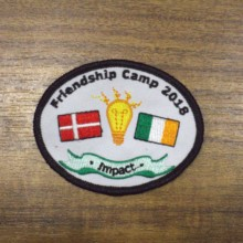 Personalised Logo Custom Made Patch Badges for promotional gift giveaway Embroidered With Fastner 07