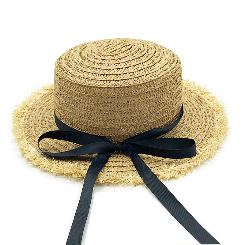 2020 New Sale Flat High Sun Hat Summer Spring Women's Travel Caps Bandages Beach Child Traw Hat Breathable Girls Hat