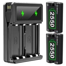 2 pièces 2550mAh batterie pour Xbox One / Xbox One S/Xbox One X/Xbox Series X/S/ Elite manette de jeux sans fil et chargeur USB