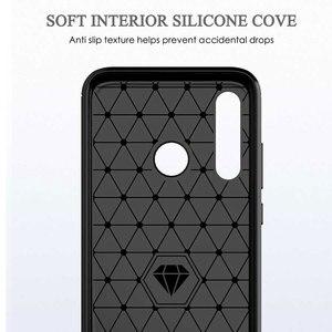 Image 4 - ZOKTEEC pour Huawei nova 4 étui de luxe armure antichoc en Fiber de carbone souple TPU silicone étui housse pare chocs pour Huawei nova 4