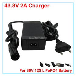 36V 2A LiFePO4 battery Charger output 43.8V 2A charger 36V LiFePO4 Charger Used for 12S 36V Electric bike battery LFP battery