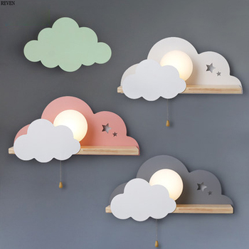 Nordic LED E27 wall lamp macarons cloud bedroom reading wall lamp wall hanging children's room lighting wall lamp