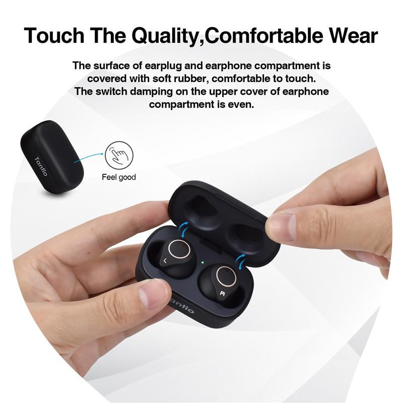 Image 2 - Tantio TWS W1 aptx Bluetooth Headphones with Qualcomm Chipset  Touch Control Totally High Performance Wireless EarphonesBluetooth  Earphones