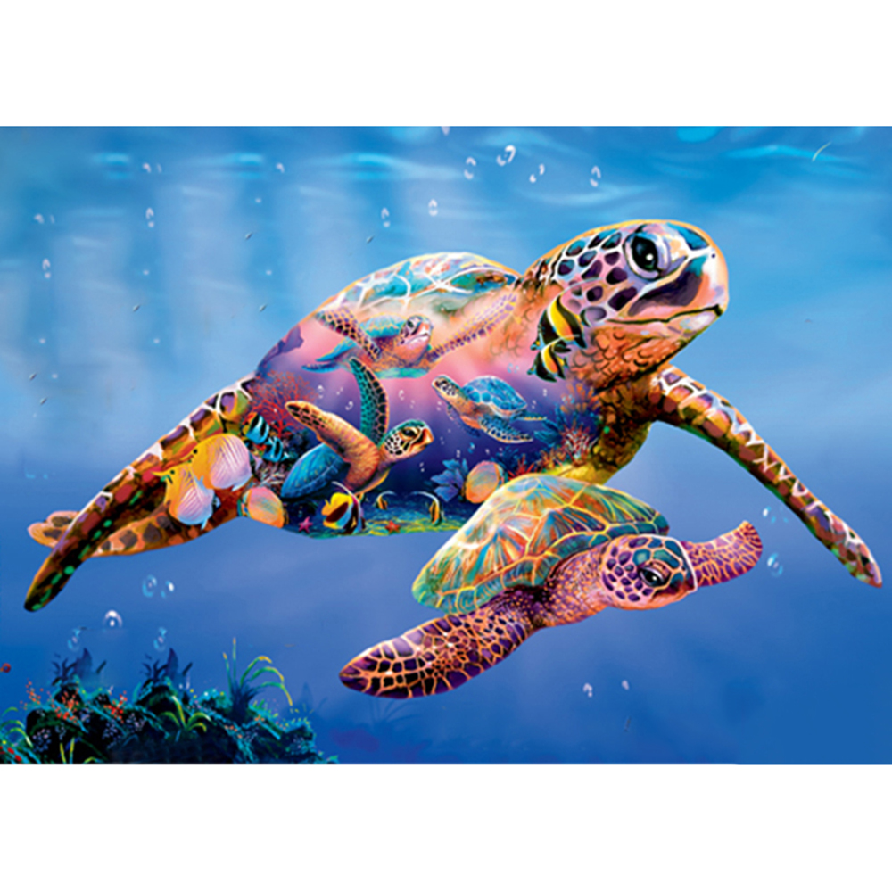 Turtle family Full Square//Round Drill 5D DIY Diamond Painting