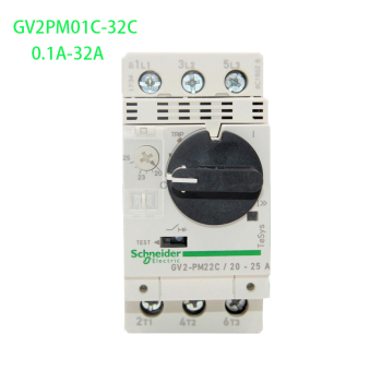 Genuine export 3P Thermal Magnetic Circuit Breaker GV2PM01C-32C 0.1-32A Motor Thermal Magnetic Circuit Breaker Knob (Control) motor fha 32c 100 s248 used one 90