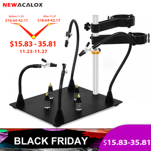 Image 1 - NEWACALOX Third Pana Hand Hot Air Gun Frame PCB Board Holder Heat Gun Stand Helping Hands Soldering Tool 3X LED Magnifying Glass