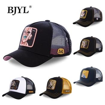 BJYL Anime Cartoon Unisex Baseball Cap Hip Hop Caps Breathable Mesh Snapback Cotton Trucker Hat for Men Women Dad Hats One Size недорого