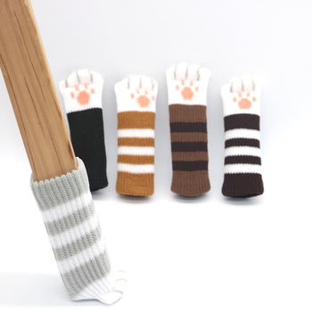 4pcs Chair Leg Protector Cap Pad Furniture Table Chair Leg Caps Foot Protection Bottom Cover Pads Wood Floor Protectors 18pcs oak furniture chair table leg self adhesive felt pads wood floor protectors anti scratch top quality