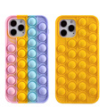 Push pop bubble squeeze Silicone phone case For IPhone 11 12 Pro Max Bubble Cover iphone 11 cases for women Half-wrapped Case