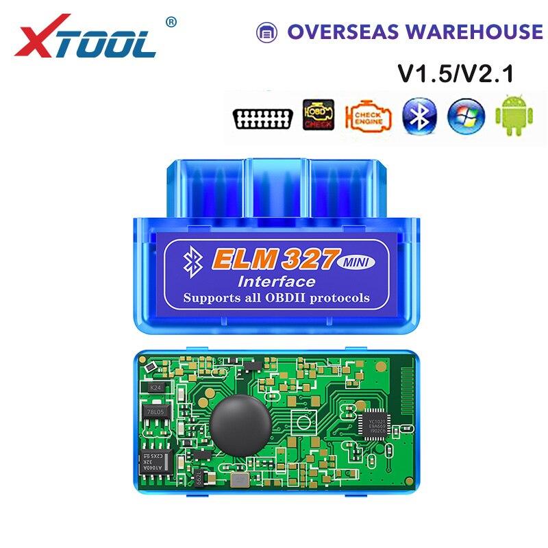 XTOOL NEUE OBD mini elm327 bluetooth V1.5/V 2,1 code leser auto diagnose werkzeug obd2 scanner Für Android Freies verschiffen