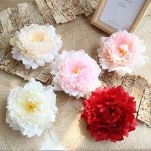 13 см Пион цветок голова шелк Искусственные цветы свадьба день рождения вечеринка Свадьба цветы украшение дома декоративные Флорес