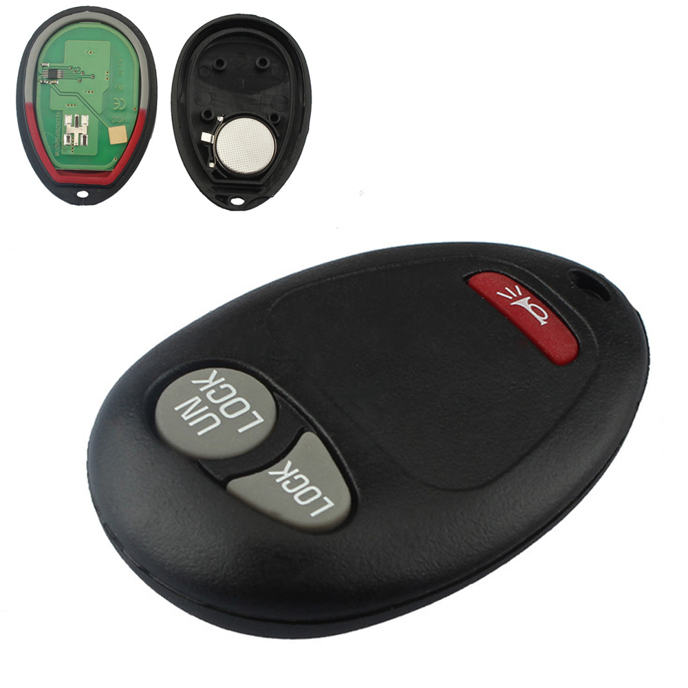 315MHZ 3 Buttons Replacement Auto Car Keyless Entry Remote Key Fob Transmitter Clicker for Chevrolet GMC Hummer Isuzu 2004-2012 image